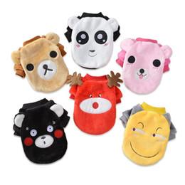 Ropa de dibujos animados emoji online-Ropa de franela de dibujos animados para mascotas Moda Animal Emoji Patrón Ropa de perro para el invierno Kepp Warm Punny Apparel Popular 8 5 md BB