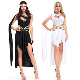 2019 nuove ragazze moderne della maglietta Moda Dea greca Dress Irregolare Party Skirt Dance Queen Costume Halloween Party Stage Arab Princess Masquerade Fancy Costume Women
