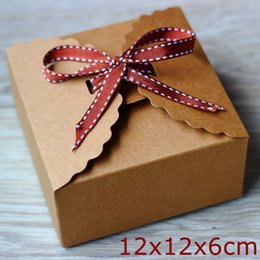 Wholesale treat box wholesale - Kraft Brown Paper Box ,Cake box,Wedding ,Party Gift Box for Treats Favor 30pcs lot