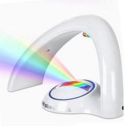 Accesorios de iluminación de 12v dc online-Lámpara de arco iris de segunda generación Creativos nuevos regalos románticos Luminaria De Mesa Lámpara de oficina Led Accesorios de iluminación flexibles