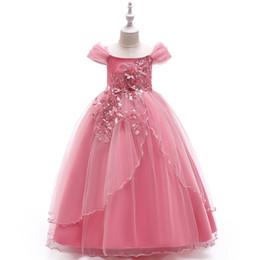 Abiti da bambina per bambini Abiti da bambina con fiocco per bambina 4-14 anni Vestito da cerimonia nuziale da cerimonia per principessa principessa per festa 2018 Abbigliamento per bambini S104 da