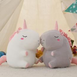Wholesale Plush White Unicorn - New Fluffy plush toys Character Unicorn plush Soft Stuffed unicorn Plush Dolls for children gift Kids Toy OTH180