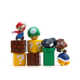 Wholesale Red Figurine - 10 Pcs lot 3D Cute Super Mario Resin Fridge Magnets for Kids Home Decoration Ornaments Figurines Wall Postbox Toys Home Kitchen Decor