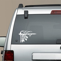 Wholesale Native American Indians - Native American Peace Pipe Vinyl Decal Sticker Indian Tribal Car Truck Pride