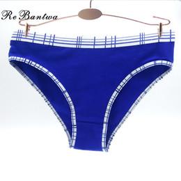 Wholesale cheap women underwear wholesale - wholesale Brand 5pcs Women's Cheap Cotton Panties Women Stretch Underwear Sexy Women Boxer Womens Plaid Knickers New Lingerie