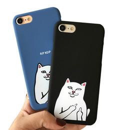 2017 étui rigide en plastique pour chat blanc Pc Weird Finger pour iPhone 6 6s 6plus 6splus 7 7Plus 5s noir blanc couverture arrière téléphone shell peau ? partir de fabricateur