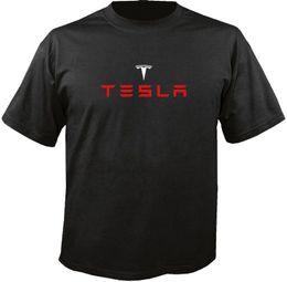 Meilleurs logos automobiles en Ligne-Tesla Electric Car Logo T-Shirt Harajuku Cool T Shirt Homme Différentes Couleurs Haute Qualité 100% Tops O-Neck Shirts