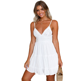 Canada 2019 nouvelles robes de femmes d'été, plus la taille boho robes robes de dentelle pour les femmes de style européen et américain robe sling exy sling dentelle, les femmes Offre