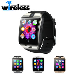 Wholesale Mini Gps Watch - Q18 Sports Bluetooth Smart Watch Apro Smart Phones GSM SIM Card Touch Screen Mini Camera For Android iPhone Samsung