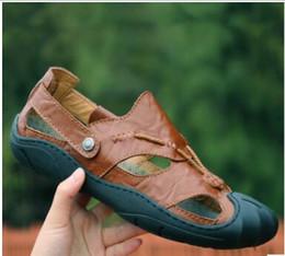 2018 estate nuovi sandali Baotou commercio estero uomo grande spiaggia scarpe  da spiaggia scarpe per il tempo libero all aperto pelle bovina fresco ... d59fe5cb5db