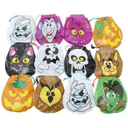 1 º filho ao atacado Desconto New Halloween Sacos De Doces Halloween Decorações Trick or Treat Bag Abóbora Crânio Gato das Crianças Presentes Portáteis Sacos