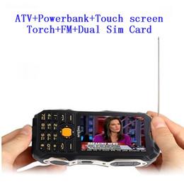 2019 placa de tv analógica Desbloqueado TKEXUN Analog TV power bank celular 3.5