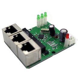 2019 сетевые коммутаторы ethernet 60*50 мм мини 3-портовый сетевой коммутатор модуль RJ45 Ethernet коммутатор доска DC 5-15V напряжения PCB концентратор дешево сетевые коммутаторы ethernet