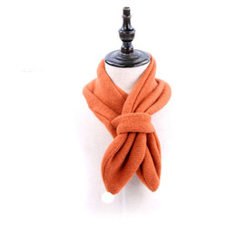 Wholesale Muffler Scarf Solid - 2018 Autumn Winter New Arrival Cute Children Solid Color Scarf Warm Baby Kids Scarves Soft Comfort Cotton Neckerchief Muffler