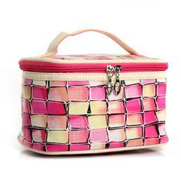 сетки Скидка Многие цвета выбирают Красочную 3D сетку для макияжа, сумка из искусственной кожи, косметичка и косметичка