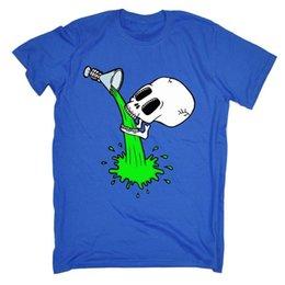 Canada Livraison Gratuite Hommes T-shirt Crâne Squelette Potable T-SHIRT Tee Drôle Cadeau T-Shirt Casual Tee-shirt À Manches Courtes Offre