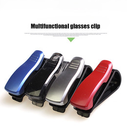 Wholesale Sunglasses Holder Clips - 1Pcs Car Accessory Sun Visor Sunglass Eyeglasses Glasses Card Pen Abs Portable Clip Ticket Holder Stand car Accessories