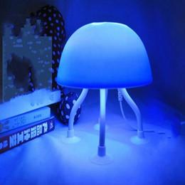 USB Güç Çift Amaçlı Mavi Beyaz Işık LED Denizanası Lamba Danışma Gece Lambası nereden