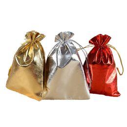 2019 sacchetto di juta nero Sacchetti gioielli in garza placcati argento 7x9 cm / 9x12cm / 11x16cm / 13x18cmJouch sacchetti di regalo regalo per bomboniere con coulisse