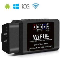 Starten obd2 codeleser online-ELM327 OBD2 WIFI-Scanner-Car-Diagnose-Code-Reader-Tool OBD II-Schnittstelle V1.5 Adapter-Motor Checker für Android / iOS / Windows