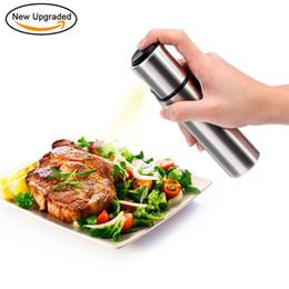 Wholesale oil dispensers - Olive Oil Sprayer, Stainless Steel Portable Oil Dispenser Vinegar Bottle for Kitchen Cooking, Salad, BBQ, Baking, Frying 180407