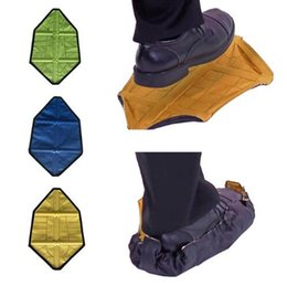 Wholesale Automatic Steps - Step in Sock Reusable Shoe Cover One Step Hand Free Sock Shoe Covers Durable Portable Automatic Shoe Covers 5 Styles 100pcs OOA4834