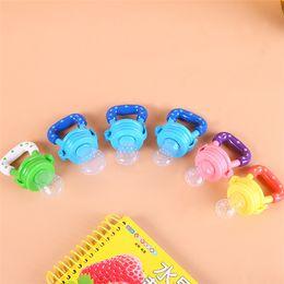 Wholesale Toy Baby Fruit - Baby Infant Toddler Slicone Food Fruit Feeder Kids Nipple Feeding Safe Nipple Pacifier 3 Size Bottle Toys