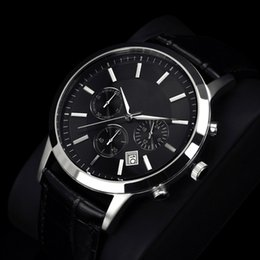 relogio sport Coupons - relogio masculino Famous Mens Watches Top Brand Luxury Fashion Business designer Quartz Watch Men Sport Leather Strap Wristwatch Male