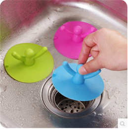 Wholesale kitchen drain stopper - Creative Lovely Villain Floor Drain Lid Silicone Kitchen Anti Odor Sewer Lids Multi-Function Rubber Stopper Easy To Clean 1 8zb Y