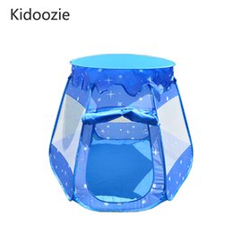 Wholesale ball house tent - Kidoozie Brand Baby Play Tent Child Kids Indoor Outdoor House Large Portable Ocean Balls Games Play House Kid Gift