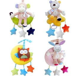 Wholesale Monkey Bedding - Wholesale- Baby Cloth Bed Crib Soft Rattle Monkey Early Educational Toy Baby Toy Soft Baby Toys Rattle Tinkle Hand Bell Plush Stroller