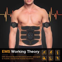 Canada Nouveau EMS Muscle Abdominal Exerciseur Formateur Smart ABS Stimulateur Fitness Gym ABS Autocollants Pad Perte Corporelle Minceur Massager Unisexe Offre