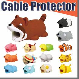 grossistes porte-badges en lanières en cristal Promotion Cable Bite Hot 36 styles Animal Bite Cable Protector Accessory Toys Cable Bites Dog Pig Panda Axolotl pour iPhone Chargeur Cord avec Boîte de vente Au Détail