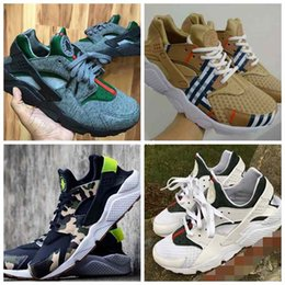 Wholesale Canvas Custom - 2017 Fashion Air Huarache Running Shoes For Women & Men,High Quality Mens Huaraches Famous Brand Custom Designer Sport Sneakers Size 36-46