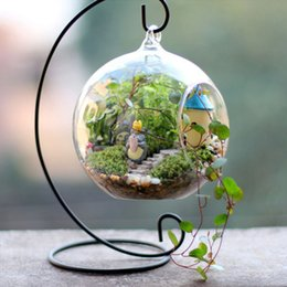 Wholesale Hanging Glass For Air Plant - Ornament Display Stand Rack for Glass Globe Air Plant Micro Landscape Iron Hanging Candle Holder Candlestick Stand Wedding Dinner Decor