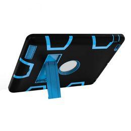 Tablet de armadura on-line-New Kids Safe Armor à prova de choque Heavy Duty Silicon + PC Stand Case Capa Voltar para iPad 2 3 4 Tablet PC QJY99