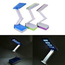 Wholesale Read Learn - 1pc Colorful Chargeable Foldable Table Lamp Learning Helper Book Reading Light Eye Protection