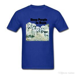 Camisa de algodão roxo profunda on-line-Deep Purple Banda Inglaterra Música Rock T Shirt Tamanho Grande Personalizado Roupas de Manga Curta Hip Hop Estilo Do Carro de Algodão Engraçado T-shirts