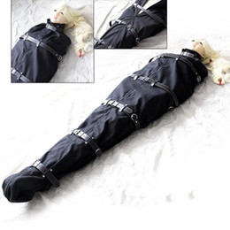 Wholesale Zentai Bondage - Full Body Harnesses Zentai Catsuit Fetish Bondage Toys Nylon Restraints Bag Cloth Adult SM Slave Game Products for Couple Sextoy