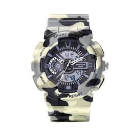 Wholesale dive watch men for military - Fashion Sport Watch Men Dive Military Clock For Mens Watches Top Brand Luxury Camouflage Geneva relogio masculino