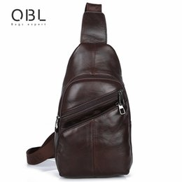 83f7916bac0a QiBoLu 2017 Cow Genuine Leather Sling Bags Men Chest Crossbody Single  Shoulder Bag for Man Sacoche Homme Bolsa Masculina MBA65