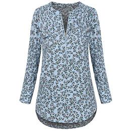 cb7c7c80cd3 Womens Tops and Blouses 2018 Feminina Vintage Floral Print Zipper Long  Sleeve Shirts Tunic Clothes Woman Ladies Top