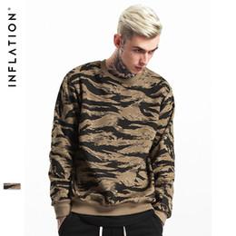 Wholesale Winter Camo Hoodie - INFLATION 2017 Autumn & Winter Streets wear Hip Hop CAMO Mens Hoodies Orignal Design Camouflage Pullover Sweatshirt 157W17