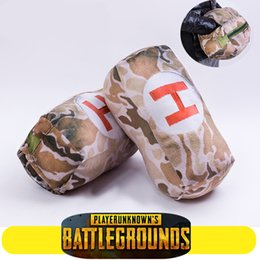 Wholesale Hand Warmer Pillow - PUBG Playerunknowns Battlegrounds first aid kit Plush Gift Plush pillow Children Gifts Give doll Hand WARMER Cosplay