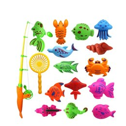22 pezzi colorati grandi pesci tropicali magnetici galleggianti giocattoli da pesca giocattoli da bagno per bambini durevoli pesci di plastica da