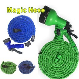 Wholesale garden spray guns - Garden Hose 25FT 50FT 75FT 100FT Flexible Garden Water Hose With Spray Gun Car Wash Pipe Retractable Watering Equipments T3I0116