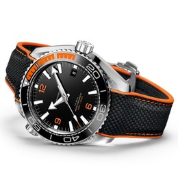 Wholesale master strap - Hot Luxury Mens Watch OM SEA MASTER Series black Dial High Quality AAA 215.32.44 Automatic Movement Original Strap Sapphire Watches