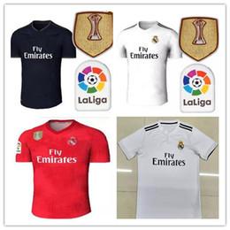 30127747ae7a6 top2018real madrid Soccer Jersey camiseta de fútbol Modric Kroos Bale  Marcelo 18 19 Champions League parches Real Madrid casa tercero barato  campeones de ...