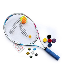 761efd54a Livre de transporte 23ch raquete de tênis júnior aluminun e raquete de  tênis composto de grafite para crianças raquete de grafite barato