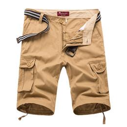 ab50d225a4fb1 Verano Nueva Moda Cargo Shorts Hombres Multi-bolsillos Longitud de la  rodilla Casual Shorts Cotton Army Tactical Mens Plus Size 30-44 económico  la longitud ...